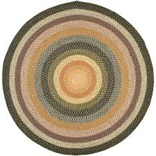 safavieh braided blue multi 8 ft x 8 ft round area rug