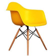 ray and charles eames furniture. Charles And Ray Eames Furniture Style Arm Chair Yellow Designer