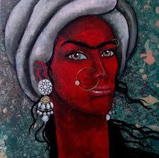 girl with bright eyes painting by artist suruchi jamkar acrylic canvas