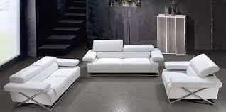 linda modern white leather sofa set vg 110