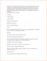 Sample College Student Resume No Work Experience Template