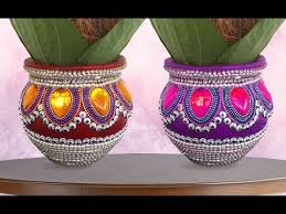 Pot Decoration Designs Pot Decoration Ideas Kalash Decoration I Wedding Karvachauth Pot 15