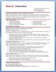 Resume Templates For Educators Musiccityspiritsandcocktail Com