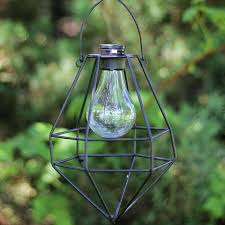 outdoor solar hanging lanterns diamond solar powered 1 light led outdoor hanging lantern latina outdoor solar