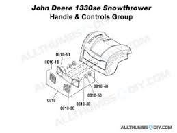 troubleshooting a broken headlight on john deere 1330se snow blower allthumbsdiy snow thrower john deere 1330se headlights wiring