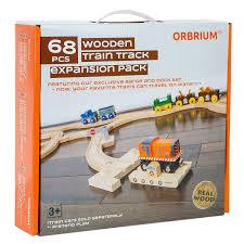 orbrium toys 3 pcs large wooden railway express coach cars brio chuggington wooden train fits thomas