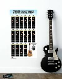 Guitar Chart Details About Guitar Chord Chart Poster 16 Popular Chords Guide Perfect For Students And Tea