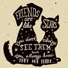 Quote Inside A Quote Quote Inside The Silhouettes Of A Dog And A Cat Vector Free Download