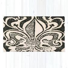 fleur de lis rug distressed rug round fleur de lis rug