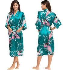 plus size silk robe 2018 wholesale silk kimono robe bathrobe women satin robe silk robes