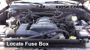 replace a fuse toyota sequoia toyota sequoia sr replace a fuse 2001 2007 toyota sequoia 2002 toyota sequoia sr5 4 7l v8