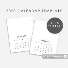 2020 Calendar Editable 2020 Editable Calendar Template 2020 Calendar Template Editable Font Calendar Template 2020 Psd Photoshop Calendar Template 2020
