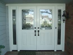 Models White Front Door With Glass Double Is Part Of Intended Innovation Design