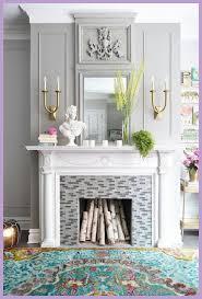 decorate unused fireplace