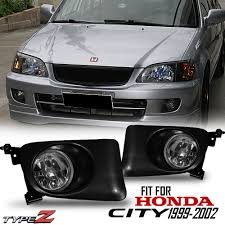 Details About Clear Black Fog Light Lamp Type Z Fit For 1999 2002 Honda City