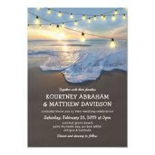 Beach Invitation Ocean Beach Seaside String Lights Wedding Invitation