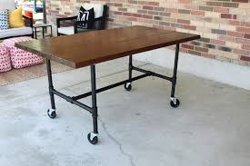 industrial pipe furniture. Perfect Industrial Galvanized Pipe Desk DIY Plumbing Table Tutorial Onsingularity Com With  Regard To Furniture Decor 13 Industrial
