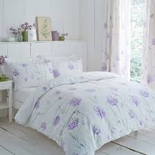 charlotte thomas kendall flower print reversible duvet cover set lilac super king linens limited