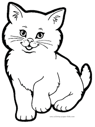 Printable Coloring Pages Of Animals Cat Color Page Animal Coloring
