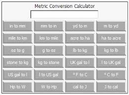 Metric Conversion Chart Calculator Online Metric Conversion Calculator Screenshots Windows 7