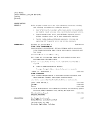 Delivery Driver Resume Samples Vinodomia