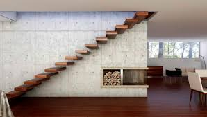 Decorations:Adorable Open Living Room With Wall Panels Also Floating Wood  Stairs Adorable Open Living