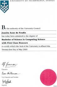 qualifications my teaching portfolio bach of cs uts