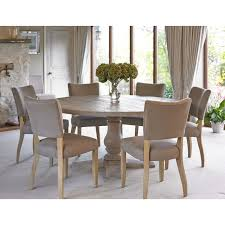 balm oak round table with six mowbray chairs