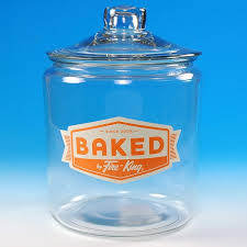 baked by fire king heritage hill glass jar