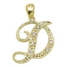 alphabet d in sterling silver pendant by kiara kip0118 silver pendants home18