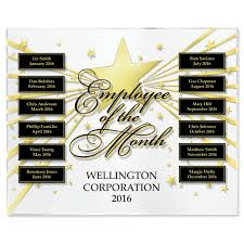 Emploee Of The Month Star Studded Employee Of The Month Program Basic
