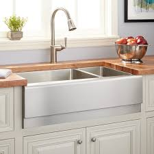 33 optimum 70 30 offset double bowl stainless steel farmhouse sink