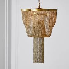 the emily meritt metal chain chandelier