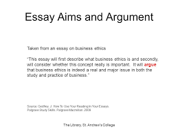 the library st andrew s college ppt  essay aims and argument