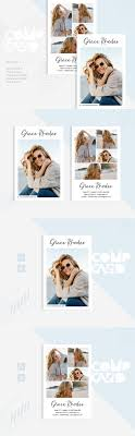 Grace Rhodes - Modeling Comp Card Corporate Identity Template #83263
