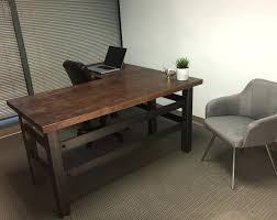 rustic wood office desk. Modern Wood Office Furniture Interior Design Rustic Desk Regarding L