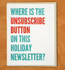Image result for holiday newsletter funny