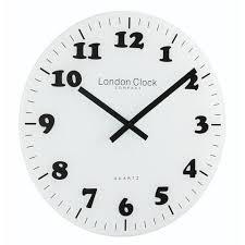 london clock company glass wall white