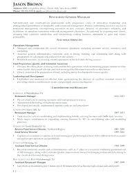 Restaurants Manager Job Description Fast Food Restaurant Manager Job