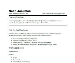 Career Objective On A Resume Resume Career Objective Example Career