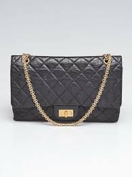 chanel black 2 55 reissue quilted classic calfskin leather 227 jumbo flap bag