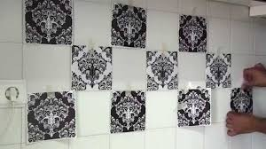 Kitchen Tile Decals Stickers How To Apply Tile Decals With Damask Wall Tiles Stickers Youtube