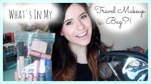 what s in my travel makeup bag my quart sized liquids bag you
