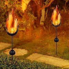 Orange Garden Lights Us 14 69 27 Off 2019 New Arrival Solar Light Garden Lights Waterproof Dancing Flame Outdoor Lighting Landscape Decoration Home Garden Solar Lamp In