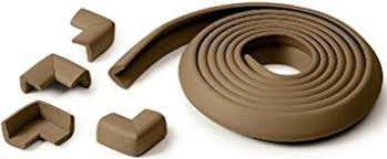 table edge guard. prince lionheart table edge guard with 4 corners, chocolate brown v