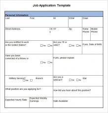 Downloadable Job Application Template Barca Fontanacountryinn Com