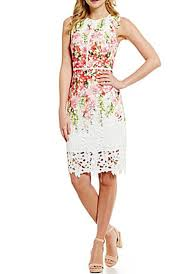 Jolene Printed Chemical Lace Dress