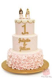 Princess Ruffle 1st Birthday Cake