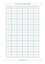 1 10 Of An Inch Math The Three Line Graph Paper With 1 Inch Major