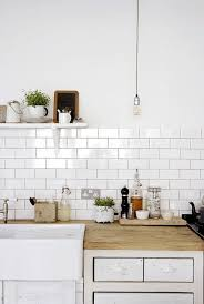white country kitchen with butcher block. Modern, Open Country Kitchen - Farmhouse Sink, Butcher Block Countertops, White Subway Tile With